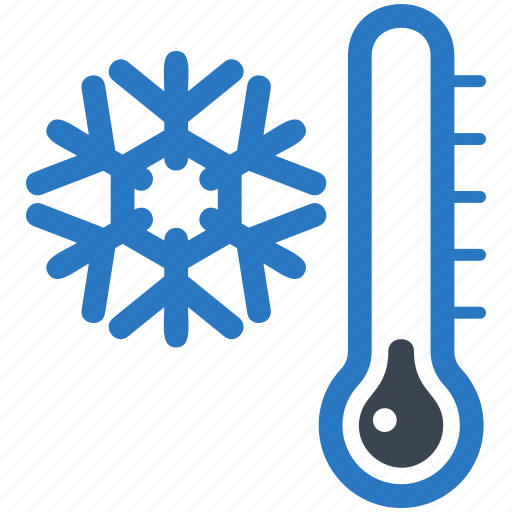 cold day snowflake thermometer winter icon