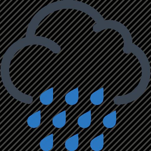 Autumn, cloud, rain, rainy day icon