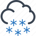 cloud, cold, snow, snowflake, winter icon