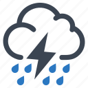 cloud, rain, storm, thunderstorm icon