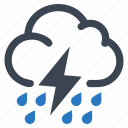 cloud, rain, storm, thunderstorm icon