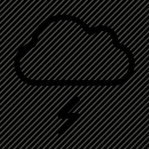 cloud, computing, lighting, storage, weather icon