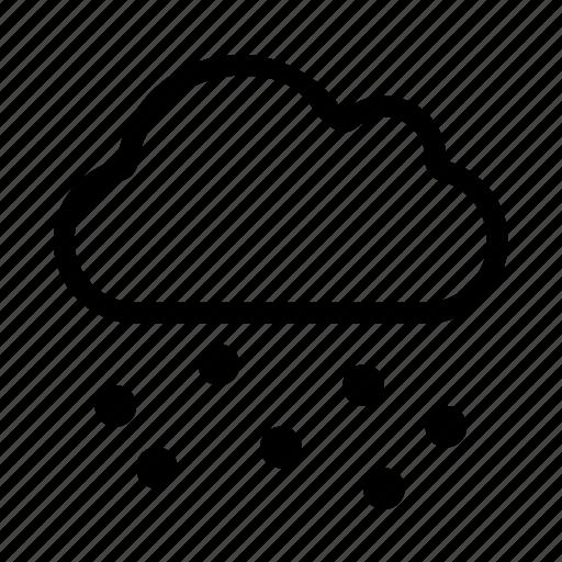 computing, network, rain, storage, weather icon