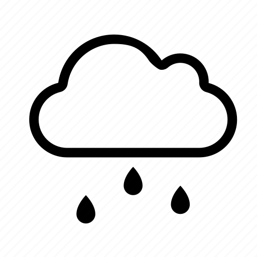 computing, network, rain, weather, wet icon
