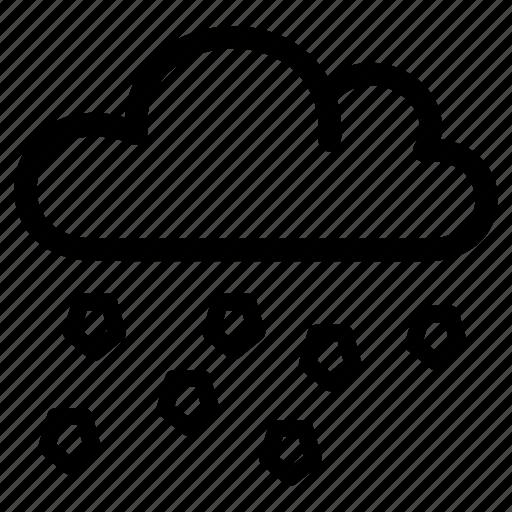 hail, hailing, precipitation, shower, storm, weather icon