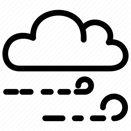 cloudy, forecast, low, speeds, weather, wind icon