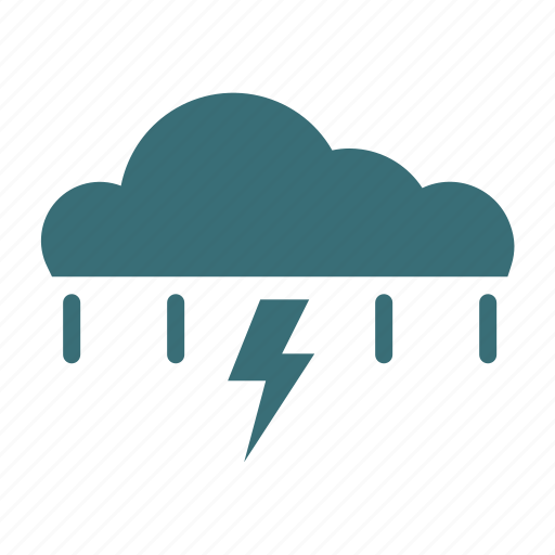 Cloudy, forecast, rain, storm, weather icon - Download on Iconfinder