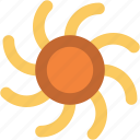 shining sun, sun, sun beams, sunlight, sunny day, sunrays, sunshine icon