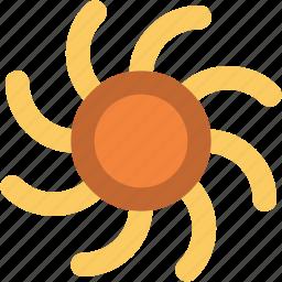shining sun, sun, sun beams, sunlight, sunny day, sunrays, sunshine icon