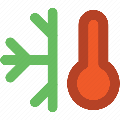 cold, down arrow, hot, low temperature, snow, snow weather, temperature, thermometer icon