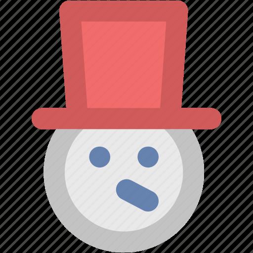jester, joker face, snow, snow man, snowman face icon