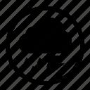 rounded, thundershower, weather icon