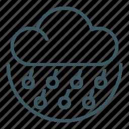 cloud, cold, frozen, hail, hailstorm, rain, weather icon