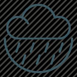 cloud, rain, rainy, weather, wet icon