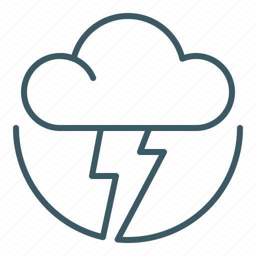 cloud, lightning, storm, tempest, thunder, weather icon