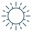 energy, heat, hot, shine, solar, summer, sun icon
