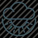 cloud, overcast, sun, sunny, weather