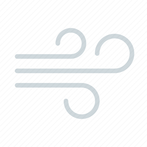 breezy, cold, forecast, weather, wind, windy icon