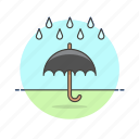 drop, humid, protect, rain, umbrella, weather, wet icon
