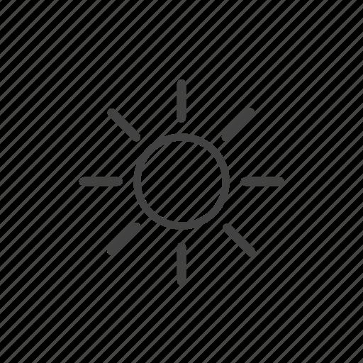 Brightness, forecast, heat, sun, weather icon - Download on Iconfinder