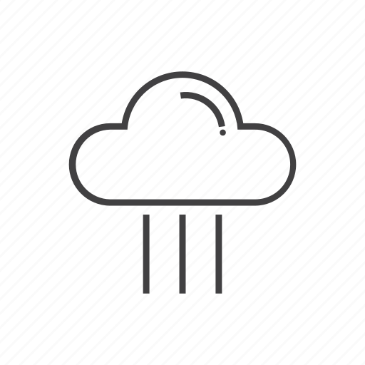 cloud, rain, set, weather, wind icon