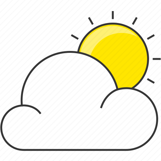 cloud, day, forecast, morning, nature, sun icon