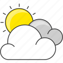 cloud, day, forecast, nautre, sun icon