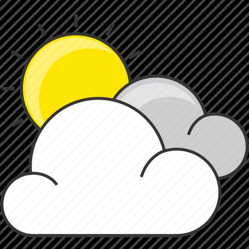 cloud, day, forecast, nautre, sun icon