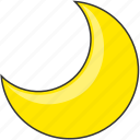 crescent, forecast, moon, nature, night icon