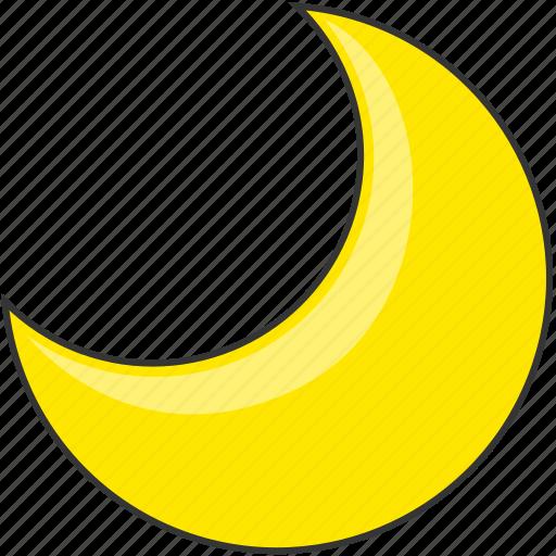 crescent, forecast, moon, nature, night icon