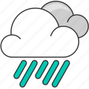cloud, cloudy, forecast, nature, rain, rainy icon
