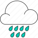 cloud, cloudy, forecast, nature, rain, raindrops, rainy icon