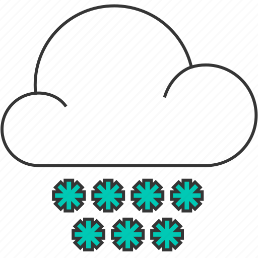 cloud, cloudy, forecast, nature, snow, snowflake, winter icon