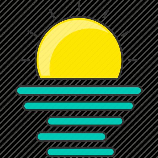 forecast, nature, sun, sunrise icon