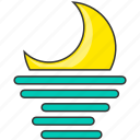 forecast, moon, moonrise, nature icon