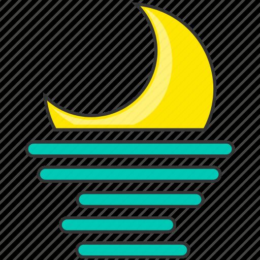 forecast, moon, moonrise, nature icon