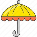 forecast, rain, rainy, travel, umbrella icon