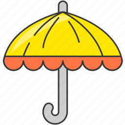 forecast, rain, rainy, travel, umbrella icon
