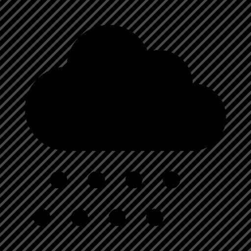 cloud, rain, snow, snowflake icon