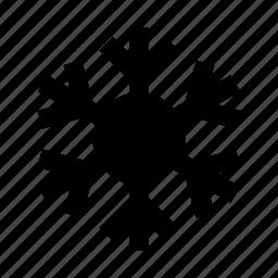snowflake, winter icon