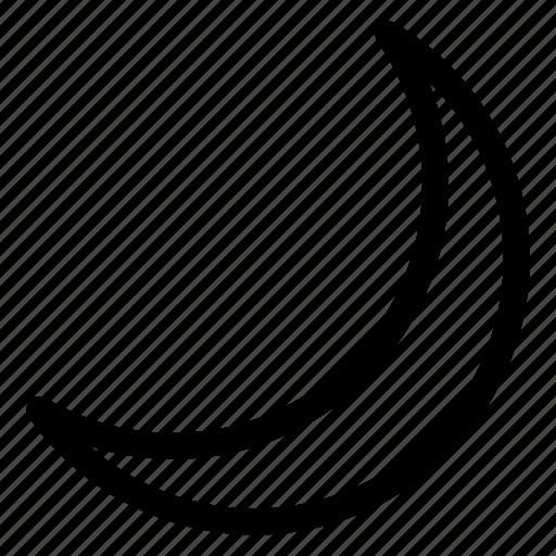 crescent, moon, moon icon, night icon
