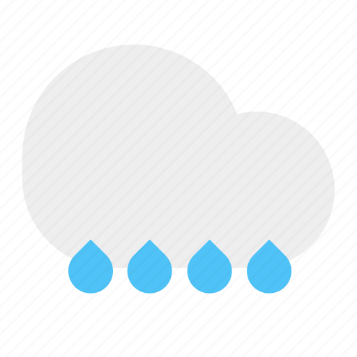cloud, rain, rainfall, weather icon