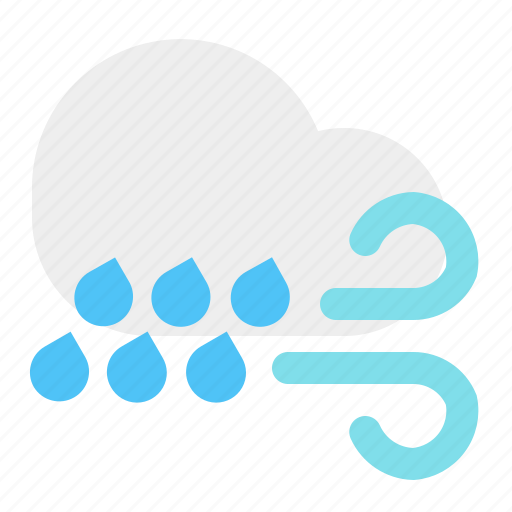 cloud, rain, weather, wind icon