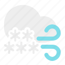 cloud, snow, weather, wind, winter icon