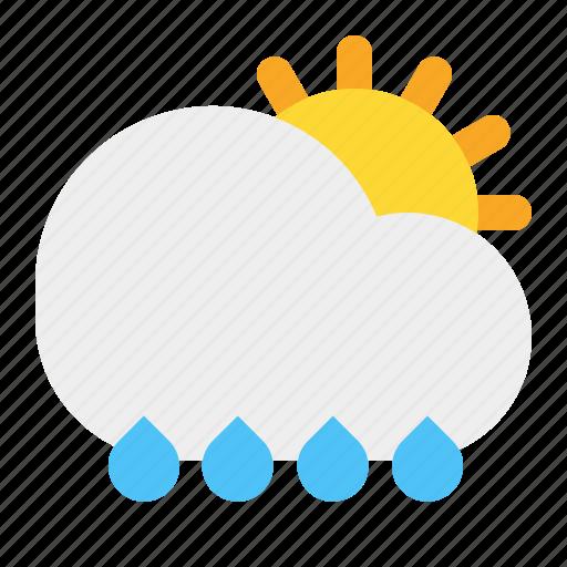 cloud, rain, shinny, sun, weather icon