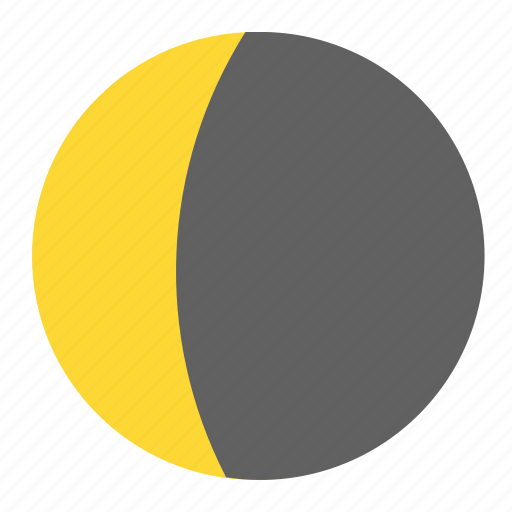 crescent, eclipsed, moon, night, weather icon