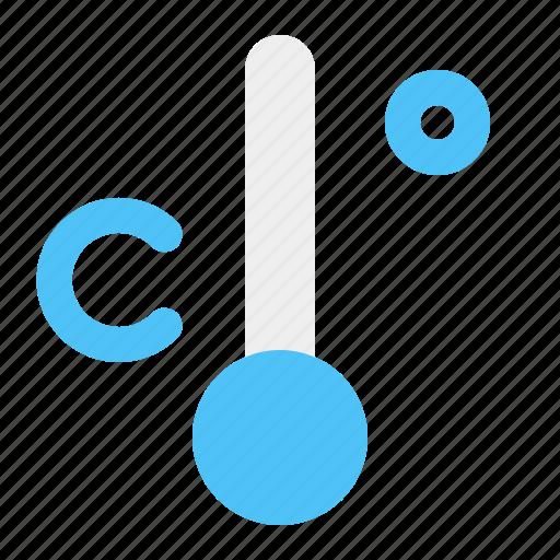 celcius, cold, temperature, weather icon