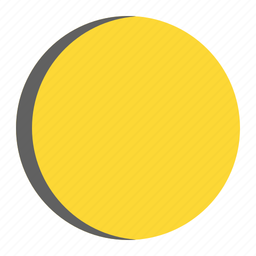 eclipsed, moon, night, weather icon