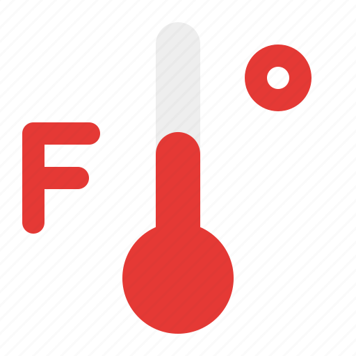 fahrenheit, temperature, warm, weather icon