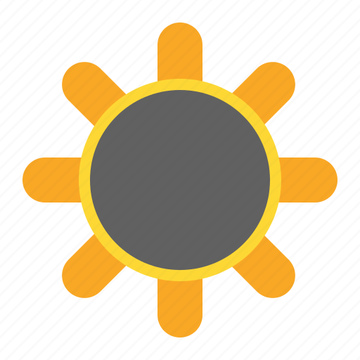day, eclipsed, sun, weather icon